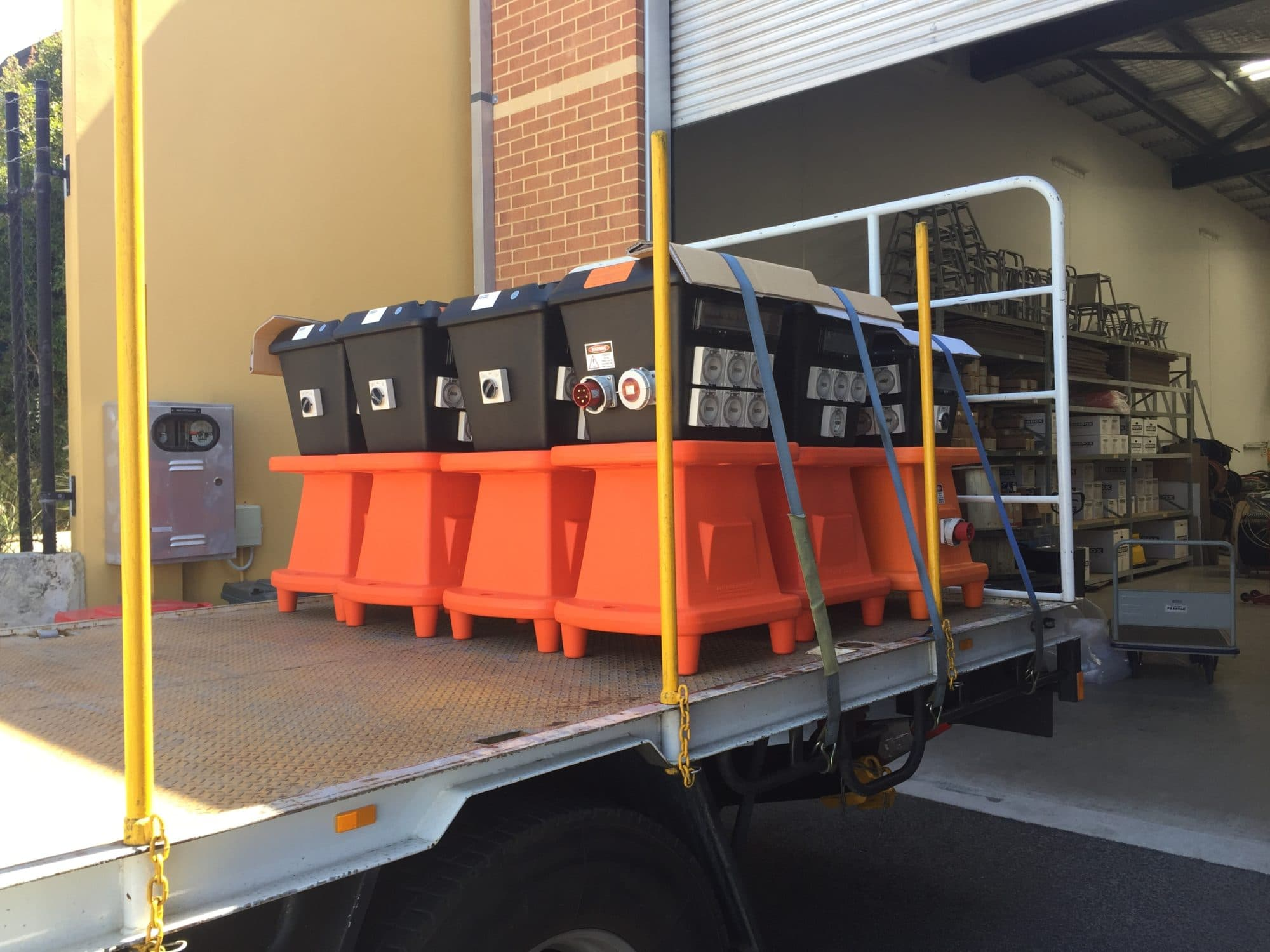 Custom poly board order loaded on the truck